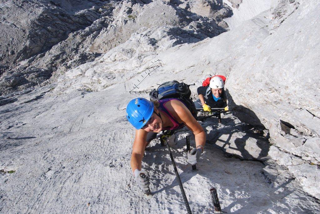 Klettersteig Johann Dachstein : Klettersteig johann bergführer dachstein
