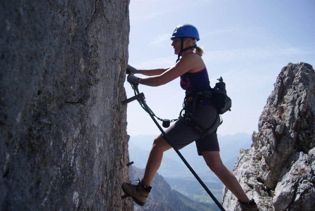 Klettersteig Rakousko : Klettersteig aufbaukurs bergführer dachstein