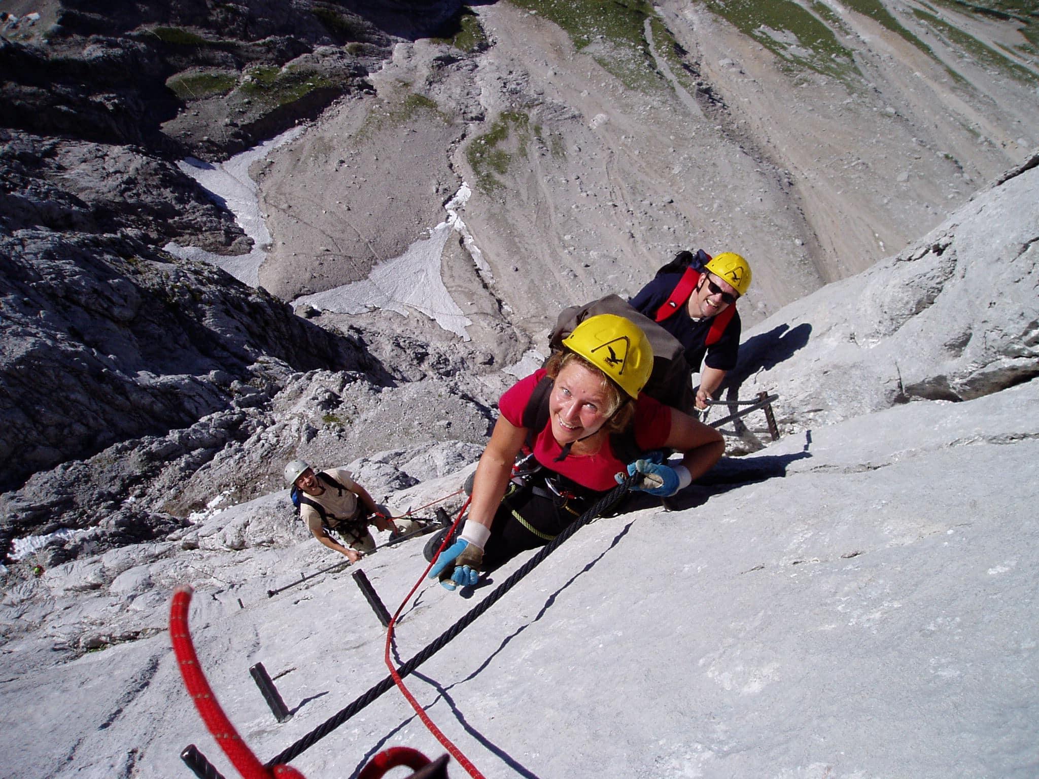 Klettersteig Johann Topo : Klettersteig basiskurs bergführer dachstein